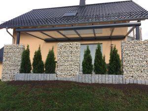 Terrassen Glasdach mit integrierte Markise